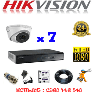 TRỌN BỘ 7 CAMERA IP HIKVISION 2.0MP (HIK-271300)-HIK-271300