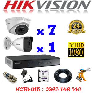 TRỌN BỘ 8 CAMERA IP HIKVISION 2.0MP (HIK-2713114)-HIK-2713114