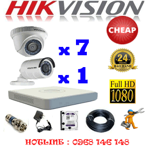 TRỌN BỘ 8 CAMERA CHEAP HIKVISION 2.0MP (HIK-27314C)-HIK-27314C