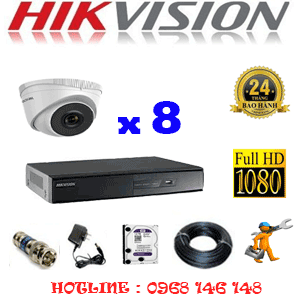 TRỌN BỘ 8 CAMERA IP HIKVISION 2.0MP (HIK-281300)-HIK-281300