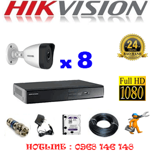 TRỌN BỘ 8 CAMERA IP HIKVISION 2.0MP (HIK-281400)-HIK-281400
