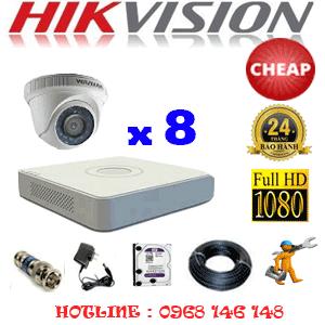 TRỌN BỘ 8 CAMERA CHEAP HIKVISION 2.0MP (HIK-28300C)-HIK-28300C