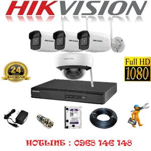 TRỌN BỘ 4 CAMERA WIFI HIKVISION 2.0MP (HIK-2115316)-HIK-2115316