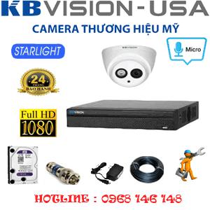 Lắp Đặt Trọn Bộ 1 Camera Kbvision 2.0Mp (Kb-21700)-KB-21700