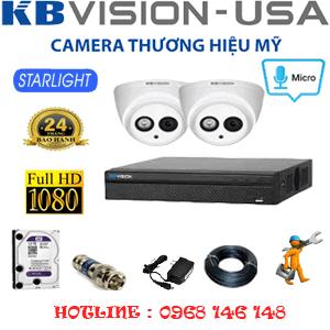 TRỌN BỘ 2 CAMERA KBVISION 2.0MP (KB-22700)-KB-22700