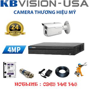 Lắp Đặt Trọn Bộ 1 Camera Kbvision 4.0Mp (Kb-411000)-KB-411000