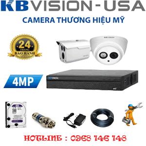 Lắp Đặt Trọn Bộ 2 Camera Kbvision 4.0Mp (Kb-419110)46-KB-419110