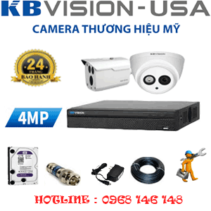 TRỌN BỘ 2 CAMERA KBVISION 4.0MP (KB-419110)-KB-419110