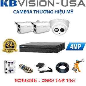 TRỌN BỘ 3 CAMERA KBVISION 4.0MP (KB-419210)-KB-419210