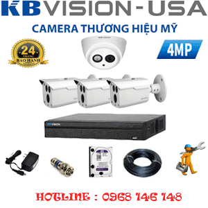 TRỌN BỘ 4 CAMERA KBVISION 4.0MP (KB-419310)-KB-419310