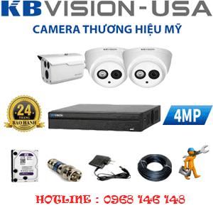 Lắp Đặt Trọn Bộ 3 Camera Kbvision 4.0Mp (Kb-429110)-KB-429110