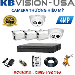Lắp Đặt Trọn Bộ 5 Camera Kbvision 4.0Mp (Kb-429310)-KB-429310