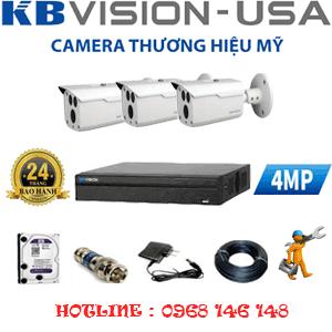 TRỌN BỘ 3 CAMERA KBVISION 4.0MP (KB-431000)-KB-431000
