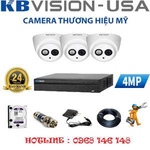 TRỌN BỘ 3 CAMERA KBVISION 4.0MP (KB-413900)-KB-43900