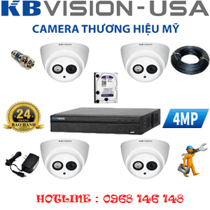 TRỌN BỘ 4 CAMERA KBVISION 4.0MP (KB-44900)-KB-44900