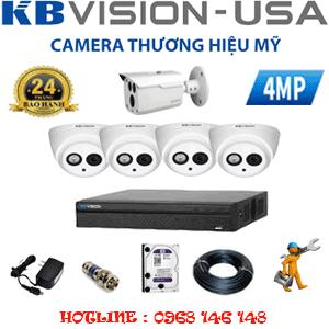 Lắp Đặt Trọn Bộ 5 Camera Kbvision 4.0Mp (Kb-449110)-KB-449110