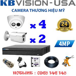 Lắp Đặt Trọn Bộ 6 Camera Kbvision 4.0Mp (Kb-449210)-KB-449210