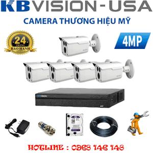Lắp Đặt Trọn Bộ 5 Camera Kbvision 4.0Mp (Kb-451000)-KB-451000