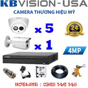 TRỌN BỘ 6 CAMERA KBVISION 4.0MP (KB-459110)-KB-459110