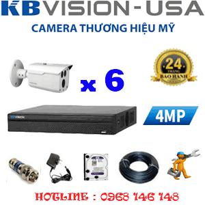 Lắp Đặt Trọn Bộ 6 Camera Kbvision 4.0Mp (Kb-461000)-KB-461000