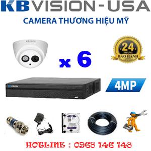 Lắp Đặt Trọn Bộ 6 Camera Kbvision 4.0Mp (Kb-46900)-KB-46900