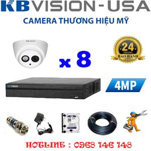 TRỌN BỘ 8 CAMERA KBVISION 4.0MP (KB-48900)-KB-48900