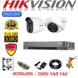 Lắp Đặt Trọn Bộ 2 Camera Hikvision 2.0Mp (Hik-2121122)-HIK-2121122