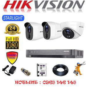 TRỌN BỘ 3 CAMERA HIKVISION 2.0MP (HIK-2121222)-HIK-2121222