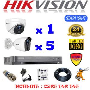 TRỌN BỘ 6 CAMERA HIKVISION 2.0MP (HIK-2121522)-HIK-2121522