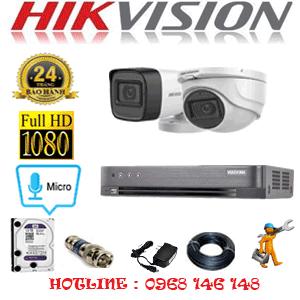 TRỌN BỘ 2 CAMERA HIKVISION 2.0MP (HIK-2123124)-HIK-2123124