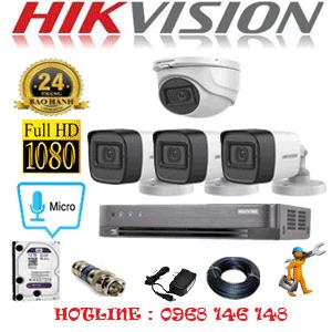 TRỌN BỘ 4 CAMERA HIKVISION 2.0MP (HIK-2123324)-HIK-2123324