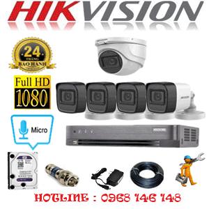 TRỌN BỘ 5 CAMERA HIKVISION 2.0MP (HIK-2123424)-HIK-2123424