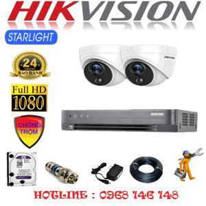TRỌN BỘ 2 CAMERA HIKVISION 2.0MP (HIK-222100)-HIK-222100