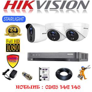 TRỌN BỘ 3 CAMERA HIKVISION 2.0MP (HIK-2221122)-HIK-2221122