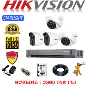 TRỌN BỘ 4 CAMERA HIKVISION 2.0MP (HIK-2221222)-HIK-2221222