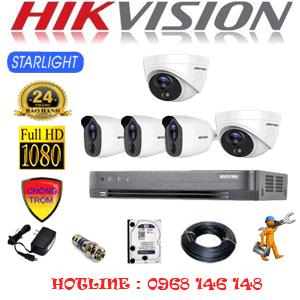 TRỌN BỘ 5 CAMERA HIKVISION 2.0MP (HIK-2221322)-HIK-2221322
