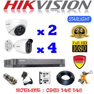 TRỌN BỘ 6 CAMERA HIKVISION 2.0MP (HIK-2221422)-HIK-2221422