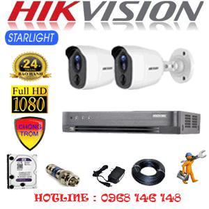 TRỌN BỘ 2 CAMERA HIKVISION 2.0MP (HIK-222200)-HIK-222200