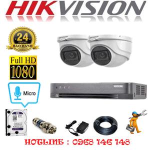 TRỌN BỘ 2 CAMERA HIKVISION 2.0MP (HIK-222300)-HIK-222300