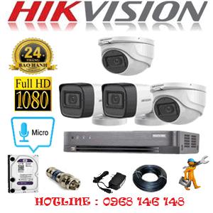 TRỌN BỘ 4 CAMERA HIKVISION 2.0MP (HIK-2223224)-HIK-2223224