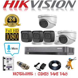 TRỌN BỘ 5 CAMERA HIKVISION 2.0MP (HIK-2223324)-HIK-2223324