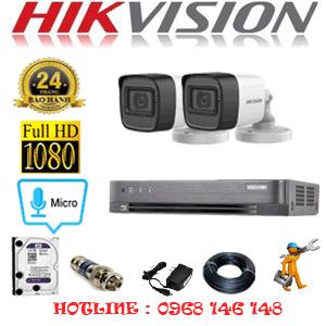 TRỌN BỘ 2 CAMERA HIKVISION 2.0MP (HIK-222400)-HIK-222400