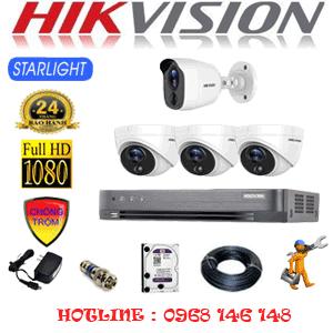 Lắp Đặt Trọn Bộ 4 Camera Hikvision 2.0Mp (Hik-2321122)-HIK-2321122