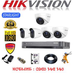 TRỌN BỘ 5 CAMERA HIKVISION 2.0MP (HIK-2321222)-HIK-2321222