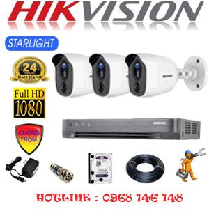 TRỌN BỘ 3 CAMERA HIKVISION 2.0MP (HIK-232200)-HIK-232200