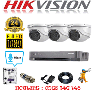 TRỌN BỘ 3 CAMERA HIKVISION 2.0MP (HIK-232300)-HIK-232300