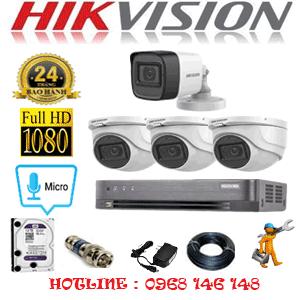 Lắp Đặt Trọn Bộ 4 Camera Hikvision 2.0Mp (Hik-2323124)-HIK-2323124