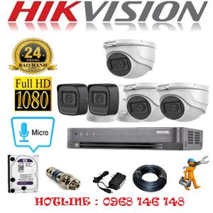 TRỌN BỘ 5 CAMERA HIKVISION 2.0MP (HIK-2323224)-HIK-2323224