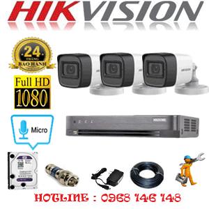 TRỌN BỘ 3 CAMERA HIKVISION 2.0MP (HIK-232400)-HIK-232400