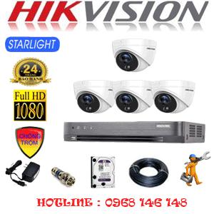 Trọn Bộ 4 Camera Hikvision 2.0Mp (Hik-242100)-HIK-242100